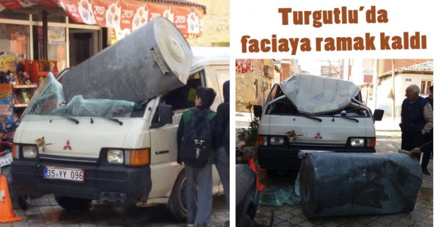 Turgutlu'da faciaya ramak kaldı (VİDEO)